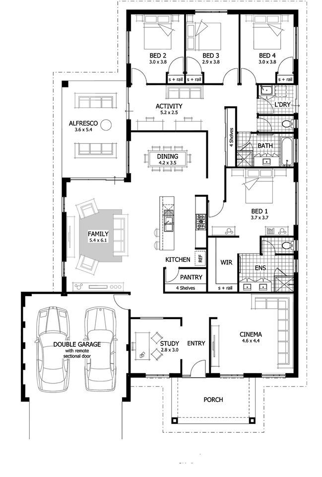 Sample Drawing Plan Duplex House Family House Plans House Plans Australia Large House Plans