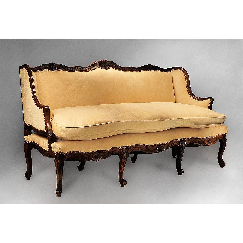 18th C French Provincial R Gence Canape Or Sofa French Provincial Rh  Pinterest Ca Buy French Provincial Sofa Antique Furniture French Provincial  Sofa Couch