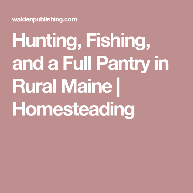 Hunting, Fishing, And A Full Pantry In Rural Maine