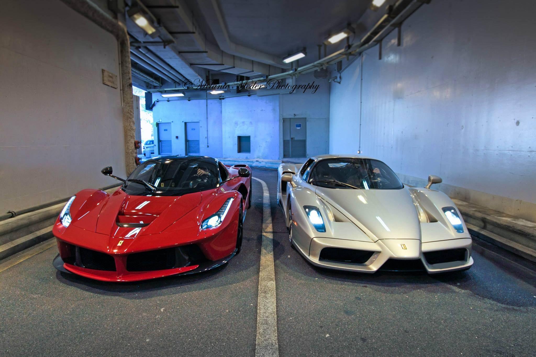 Ferrari Enzo Y LaFerrari Wallpapers