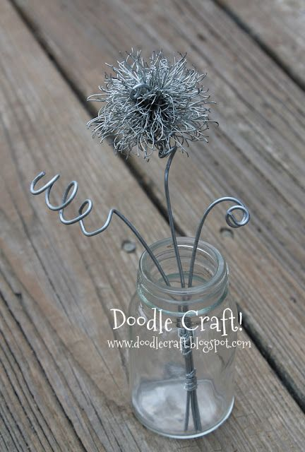 Doodle Craft...: Pom Pom Hair candy clips and wire!
