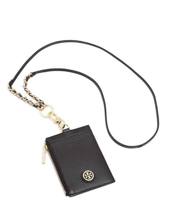 8d44a3ec4d1a00 Tory Burch Robinson Lanyard Badge Holders, Card Holder, Tory Burch,  Handbags, Wallet