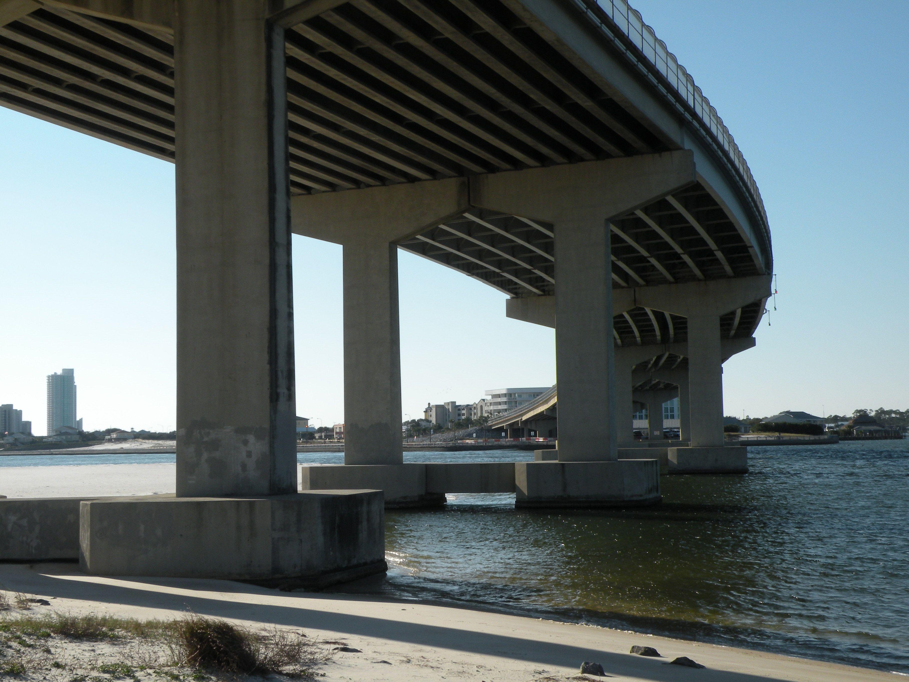 Under The Perdido Pass Bridge At Orange Beach Alabama With Images