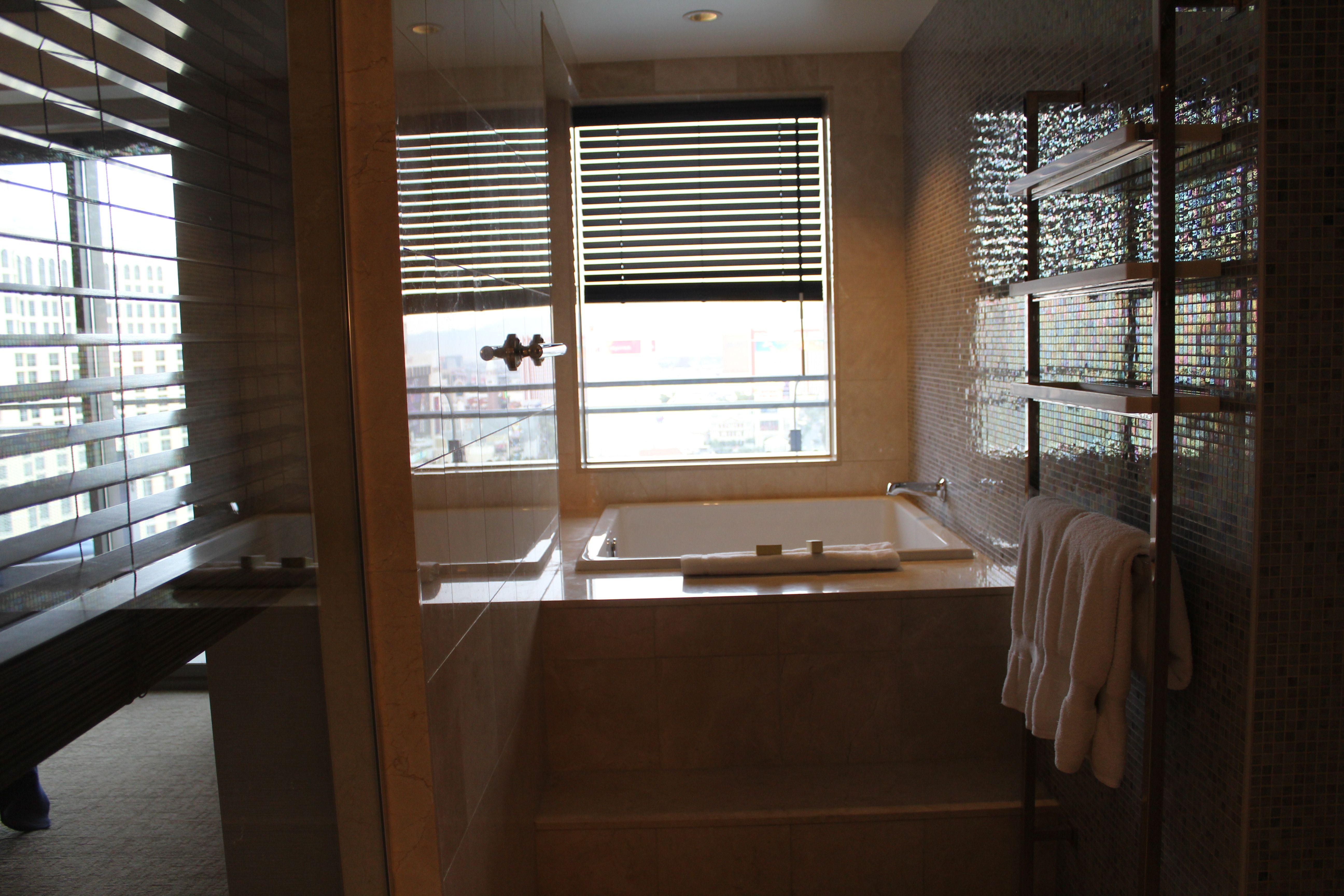 Las Vegas, NV Luxury hotel bathroom, Floor to ceiling
