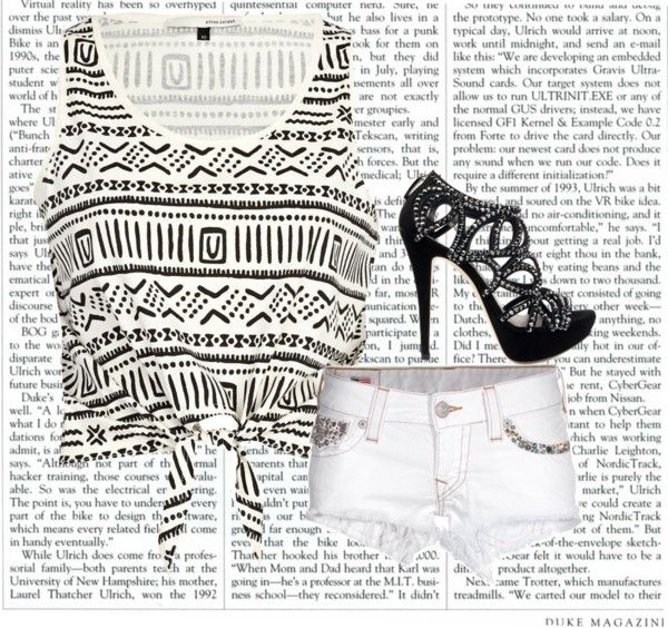 Black and White, created by sfunkygirl on Polyvore