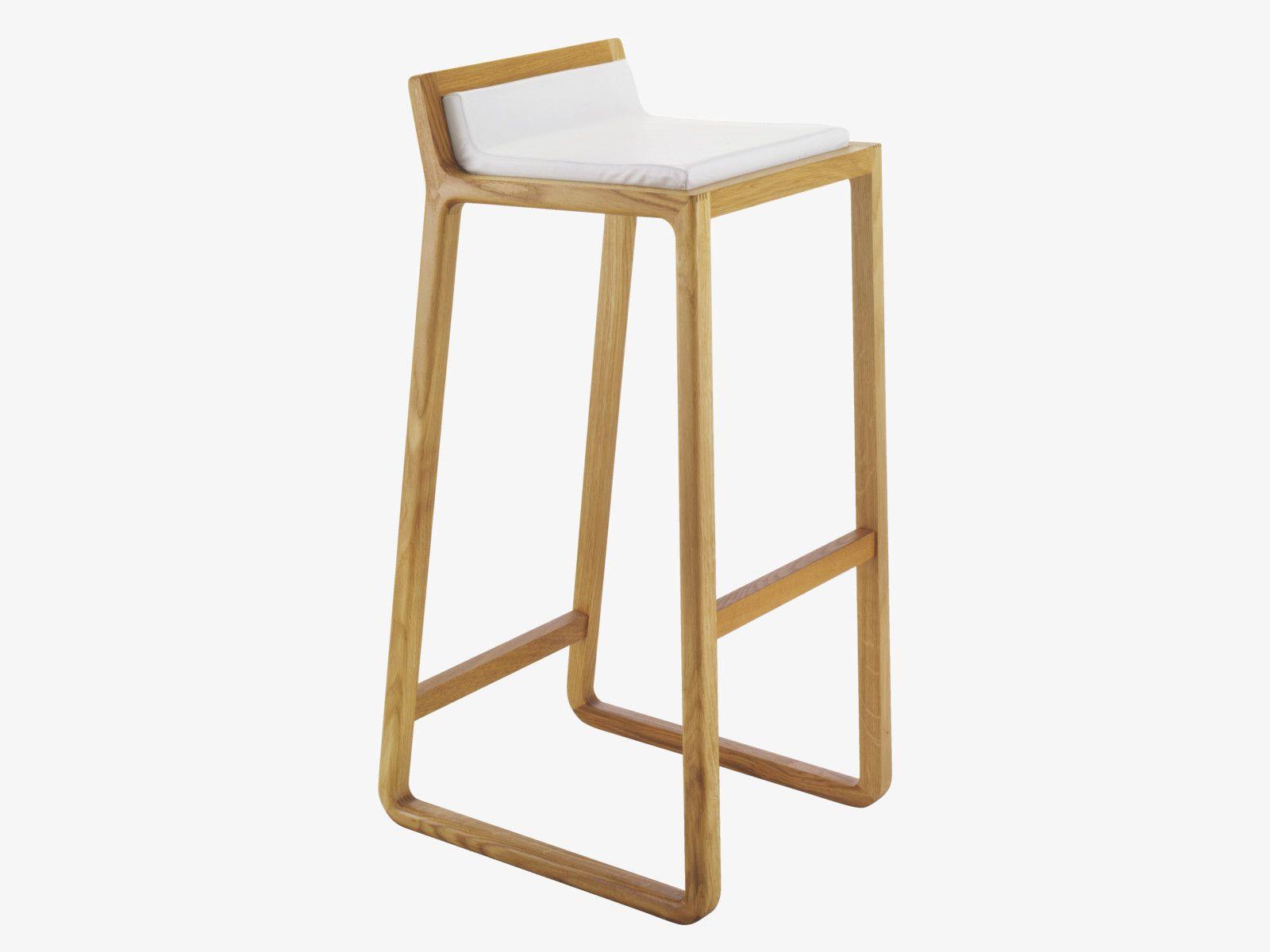 Joe Solid Oak Bar Stool With Leather Upholstered Seat In 2020 Oak Bar Stools Bar Stools Bar Stool Chairs
