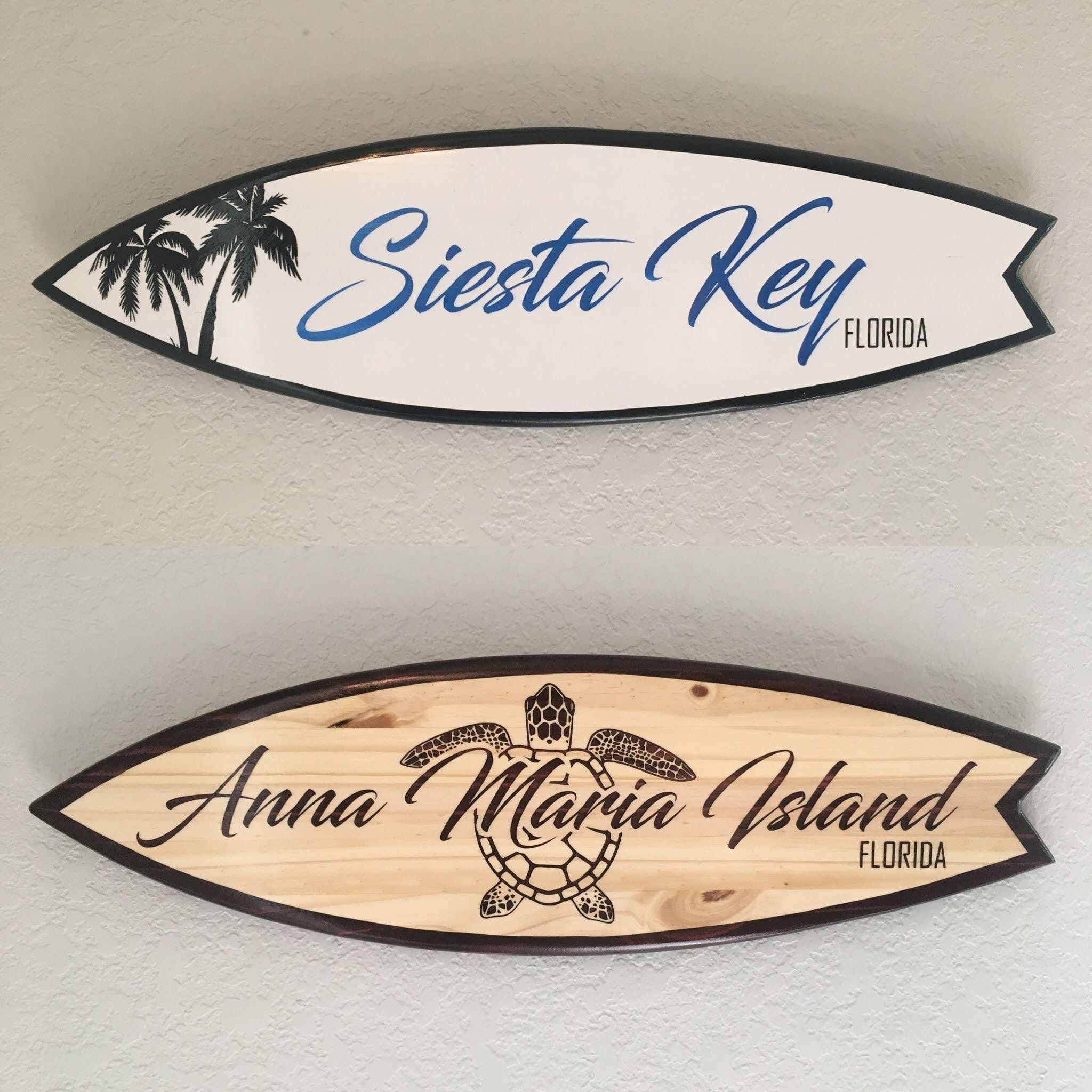 Vacation Memories Customized Surfboard Signs Personalized Etsy Custom Surfboards Surf Decor Surfboard Wall Art