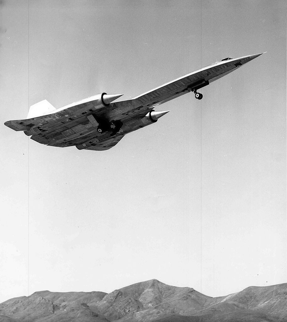 Lockheed A-12, later to become the SR-71 Blackhawk spy plane.