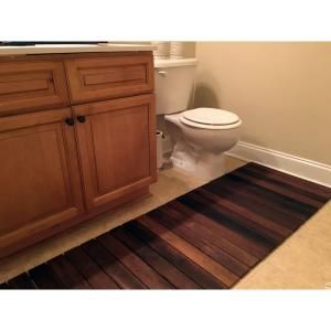 Rollfloor Bathroom Mat 2 Ft X 3 Ft Roll Out Wood Deck Tile In