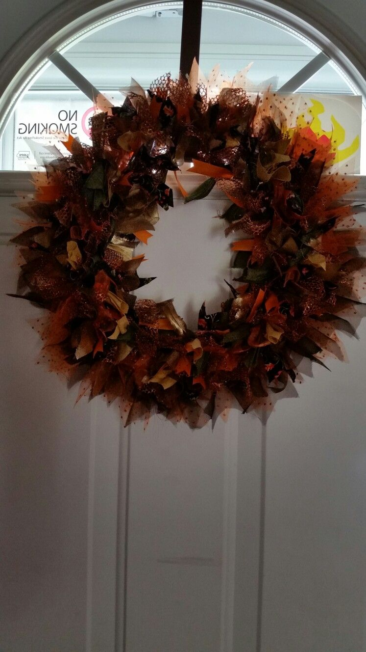 Autumn Ribbon Wreath