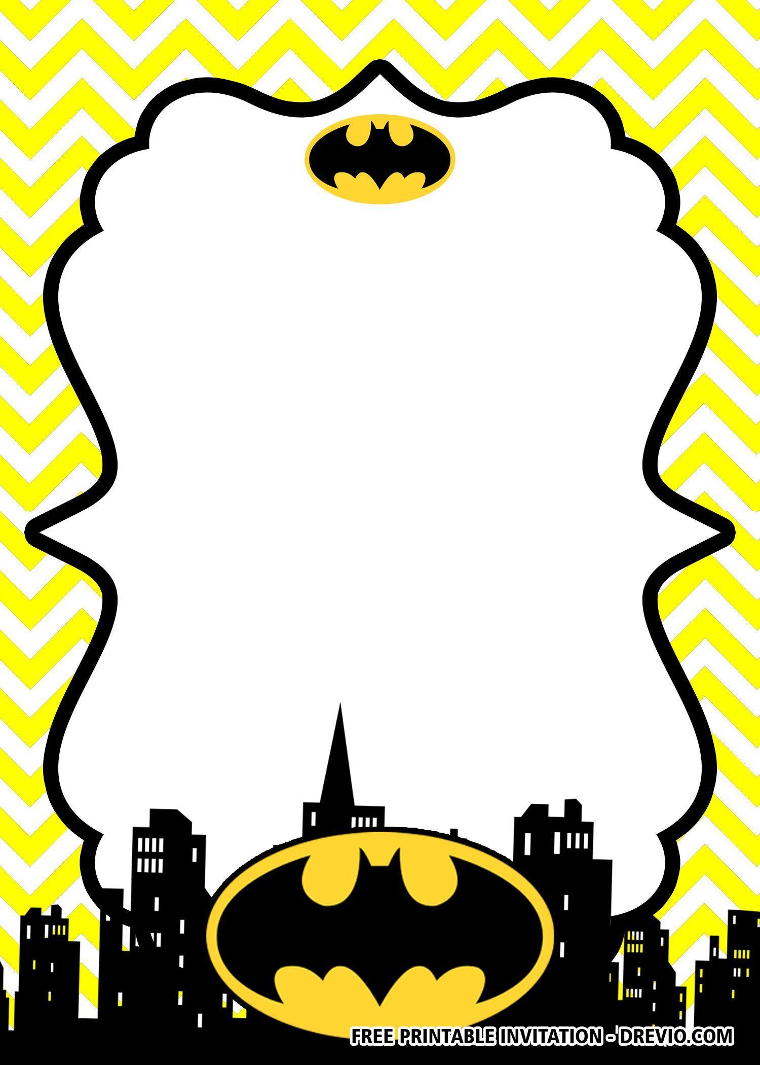 Free Printable Batman Birthday Invitation Templates Batman Invitations Superhero Birthday Invitations Batman Birthday