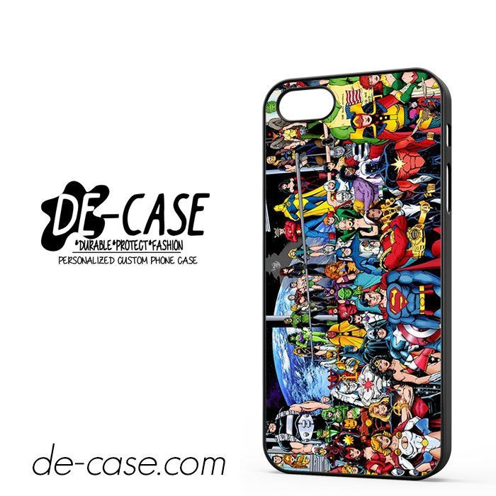 Justice League Superheroes Dc Comics Marvel DEAL-6038 Apple Phonecase Cover For Iphone 5 / Iphone 5S