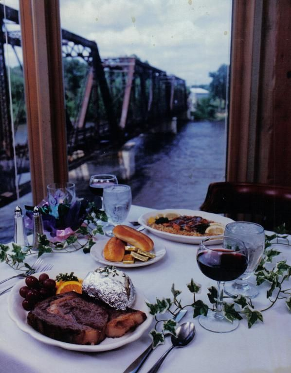 The Broom Factory Restaurant In Cedar Falls Iowa Overlooking River Railroad Tressels