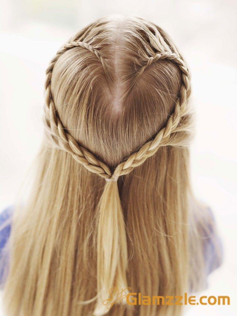 Heart Braid For Valentine S Day Hair Styles Heart Hair Cool Hairstyles
