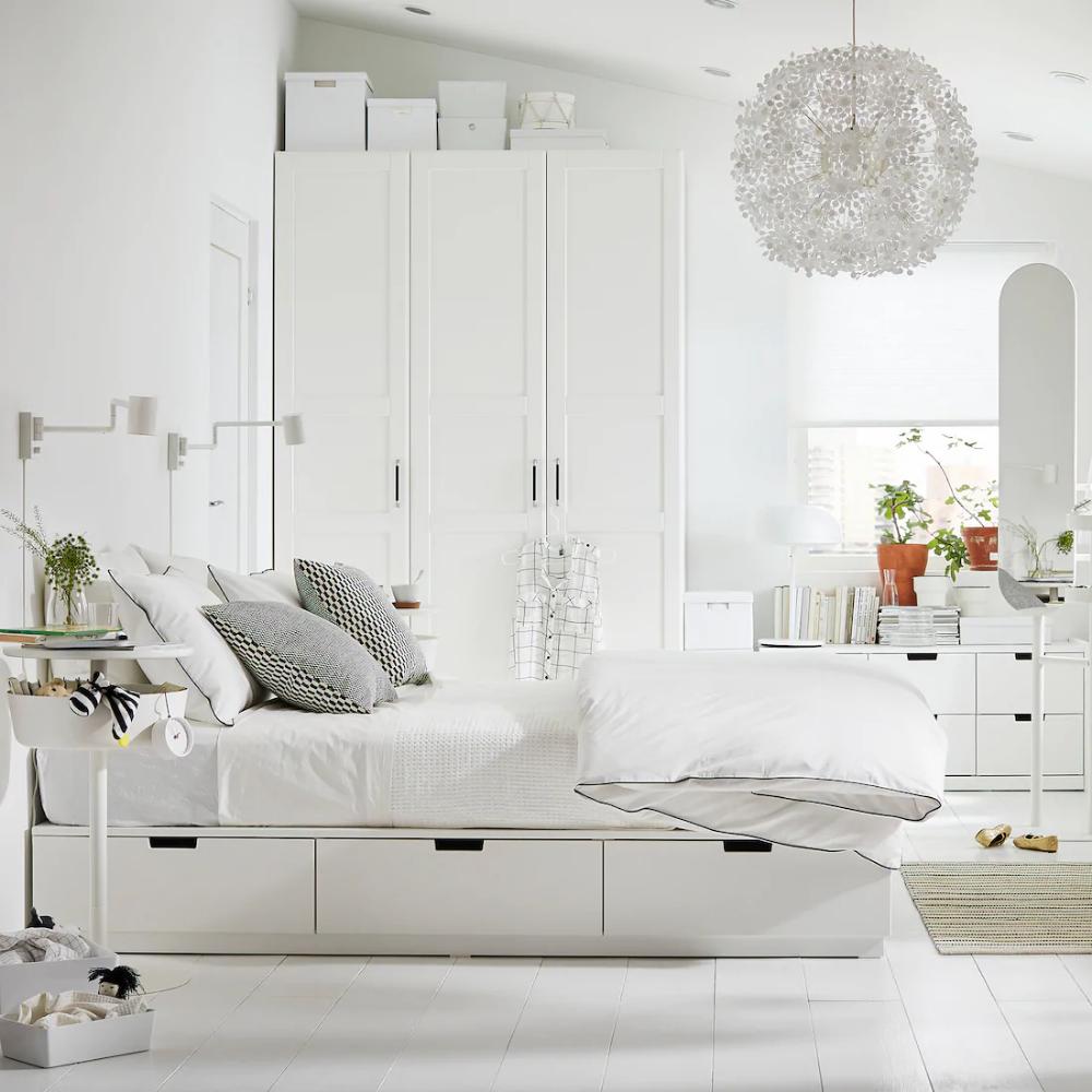 Nordli Bettgestell Mit Schubladen Weiss Ikea Deutschland Bed Frame With Storage Ikea Bed Small Bedroom