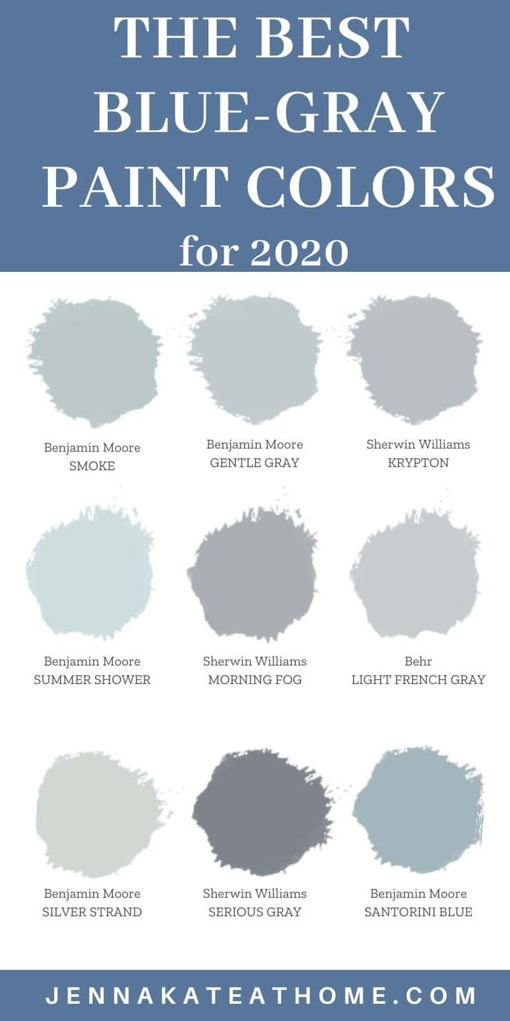 The Best Blue Gray Paint Colors