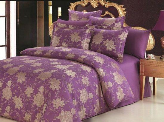 Dark Blue and Purple Bedding Sets, Royal Bedroom ...