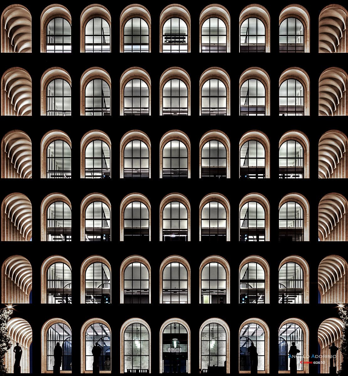 Palazzo Della Civilta E Del Lavoro Roma Eur Design Della Facciata Dettagli Di Architettura Portfolio Di Architettura