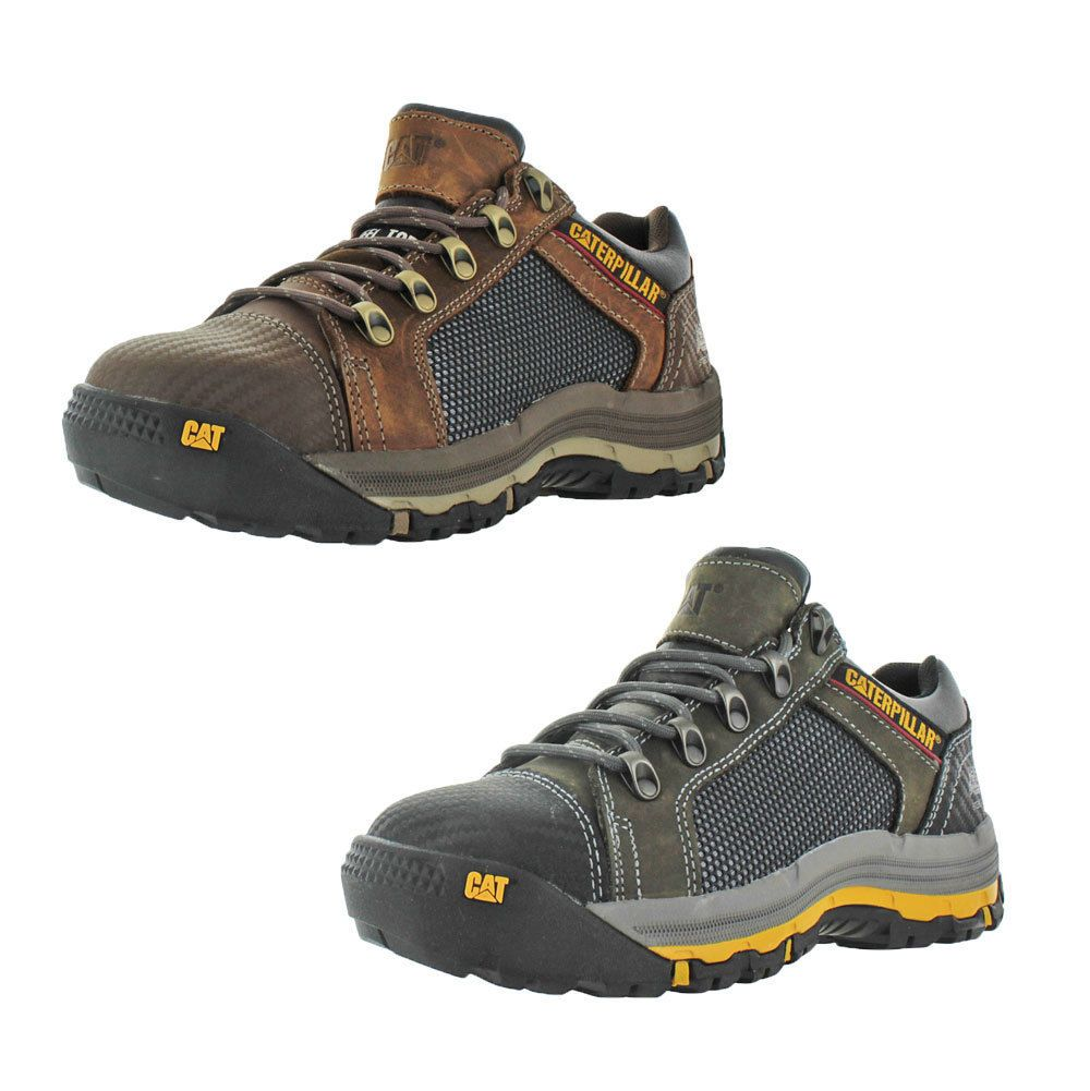 b0f3d09be8f Details about CAT Caterpillar Men's Steel Toe Work Shoes Size 8.5 in ...