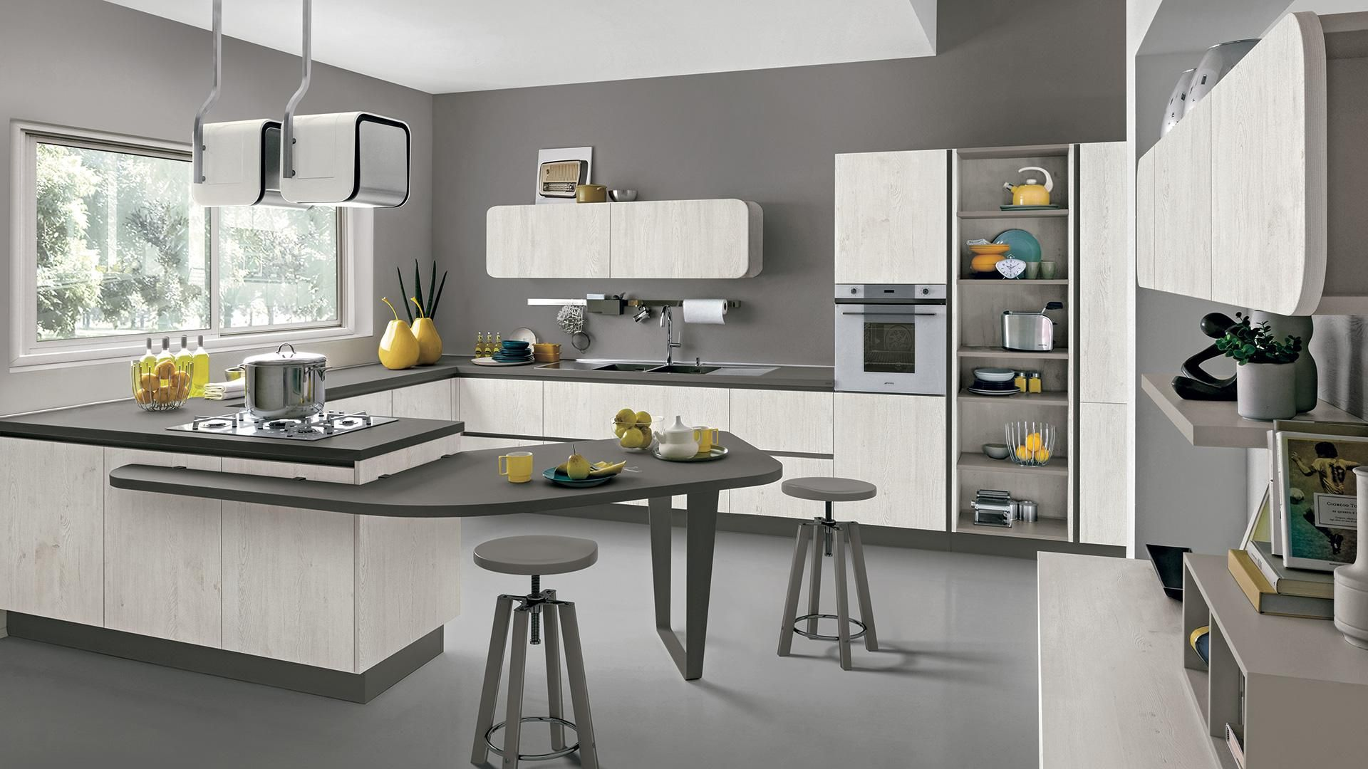 Cucina Americana Immagina Neck Cucine Lube Spaces Where Eating Is A Pleasure