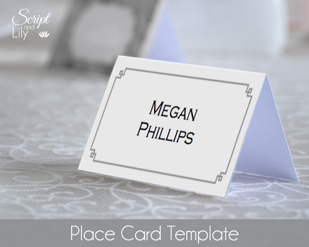 DiY Place Name Card Template | INSTANT DOWNLOAD | EDITABLE Text ...