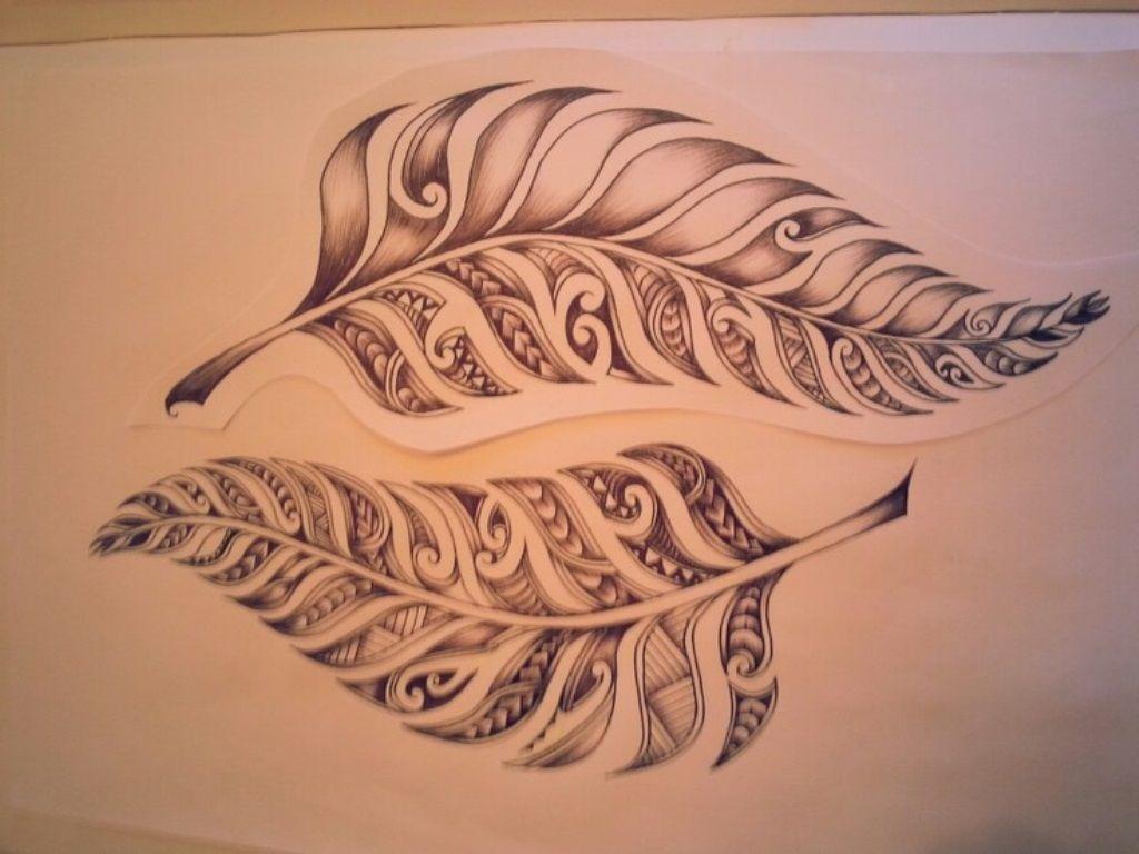Maori Fern Tattoo: Тату с папоротником, Тату с кружевом и