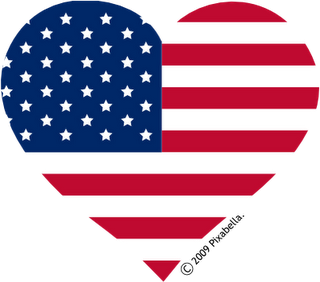 Red White Blue Heart All Things Hearts Flag American