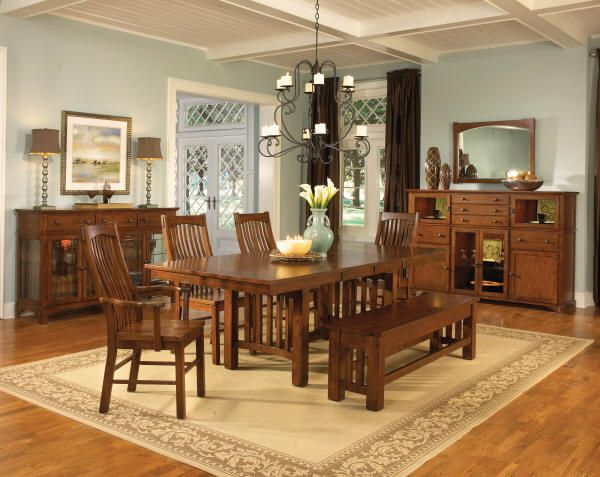 Old Canary Mission Style Oak Dining Sets Furniture Dining Room Sets