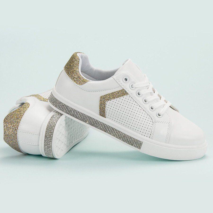Ideal Shoes Buty Sportowe Z Cyrkoniami Biale Sport Shoes Women Sport Shoes Shoes