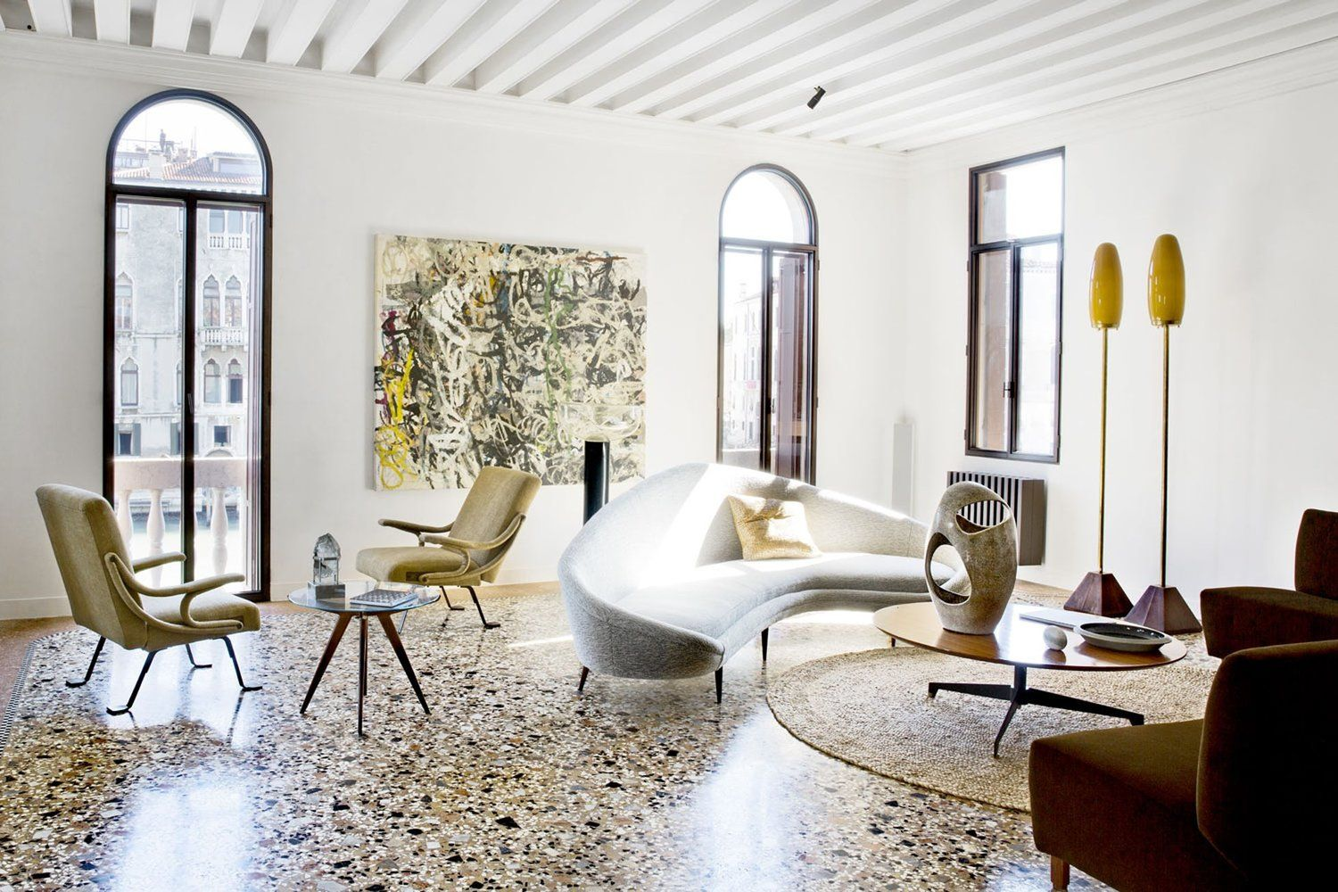 A Paris Living Room With Terrazzo Floors Image Credit Chiara Dal Canto Living Inside Bo Bedre In 2020 Paris Living Rooms Tile Floor Living Room Terrazzo