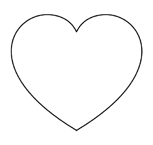 picture relating to Heart Outline Printable called Cost-free Printable Centre Templates High, Medium Tiny