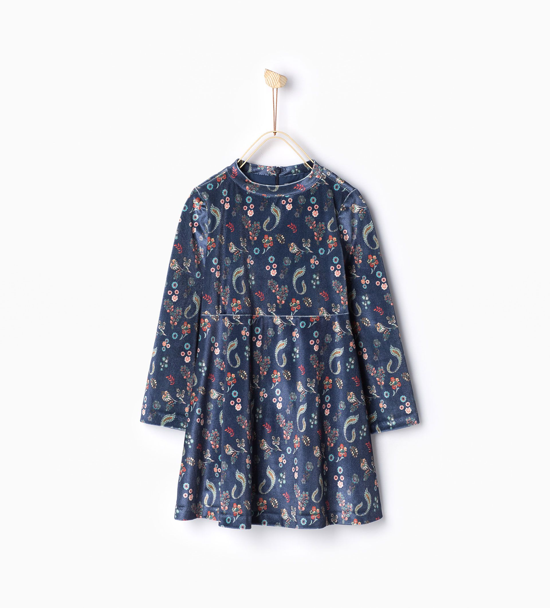 ZARA - KIDS - Printed velvet dress | Kidswear trends, Girl ...