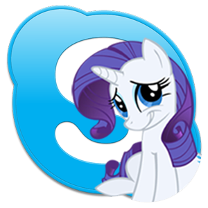Rarity and Skype Icon