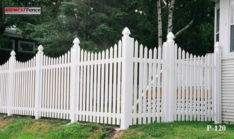 vinyl picket fence front yard. Picket+fence | Scalloped Vinyl Picket Fence Front Yard N