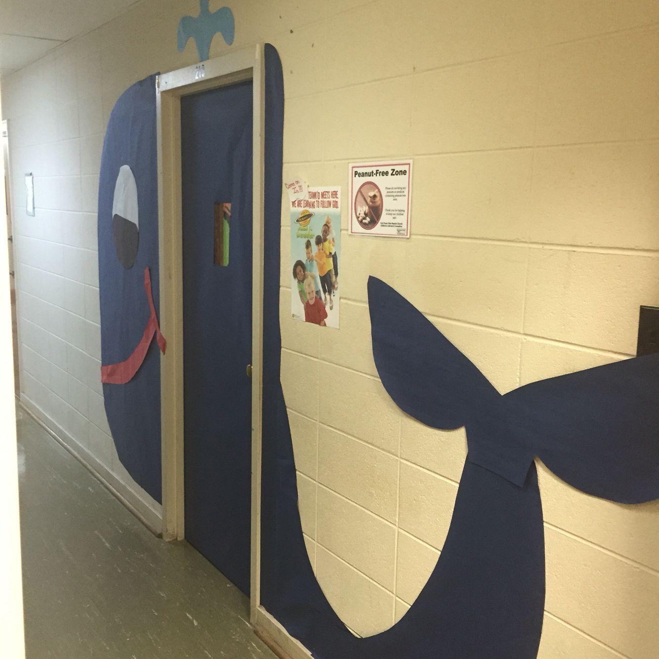Whale door decoration/school door/ocean   Ocean Classroom Decor ...