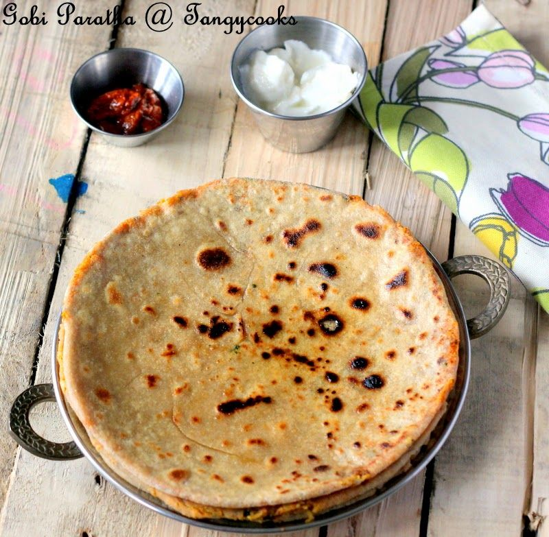 Concoctions Of A Cookaholic Gobi Paratha Cauliflower Stuffed