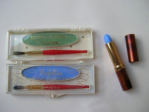 Vintage Maybelline green and blue eyeshadows