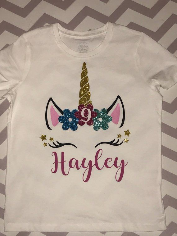 Unicorn Shirt Girls Birthday