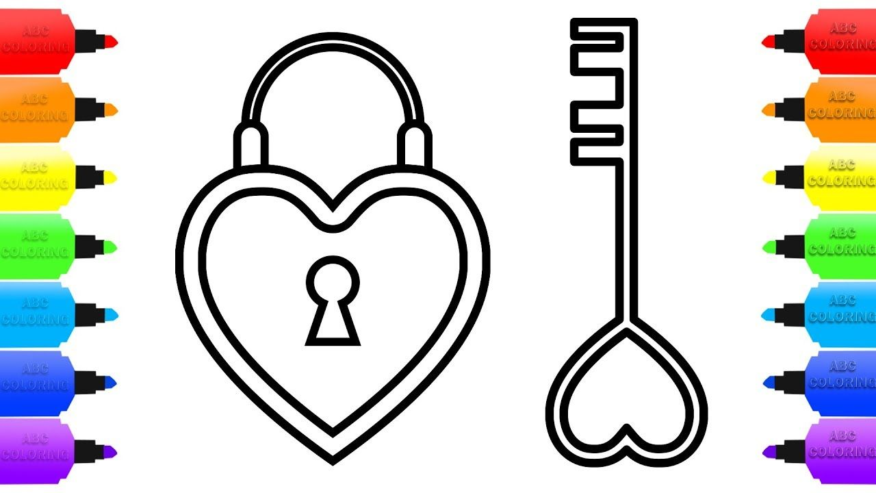 heart lock and key coloring pages for kids how to draw lock and key fo key drawings heart coloring pages coloring pages heart lock and key coloring pages for