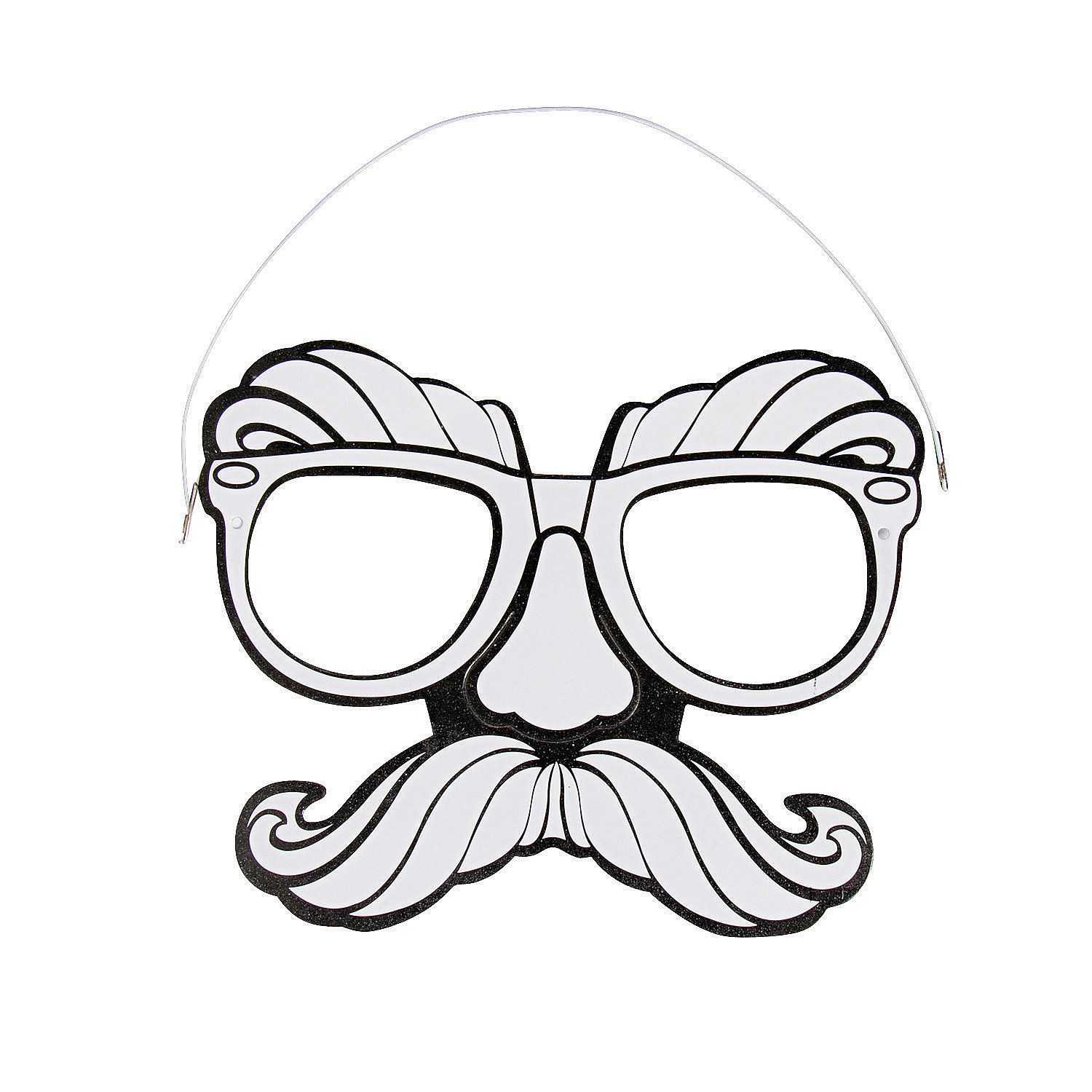 7 Great Marvelous Moustaches Costume Fancy Dress Halloween Undercover Disguise