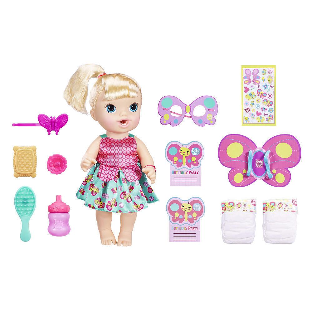 Baby Alive Brianna S Butterfly Party Playset With 12