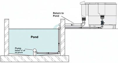 Koi ponds bottom drain pond filters
