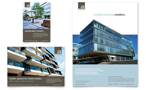 Commercial Real Estate Flyer Design Architectural Ad Template