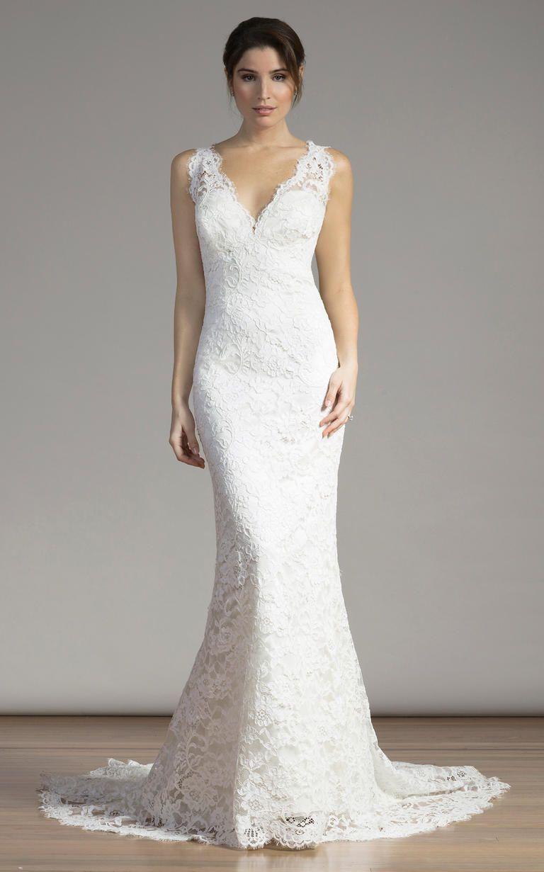 Lace v neck wedding dress  Liancarlous Spring  Wedding Dresses Have Lace For Days  Wedding