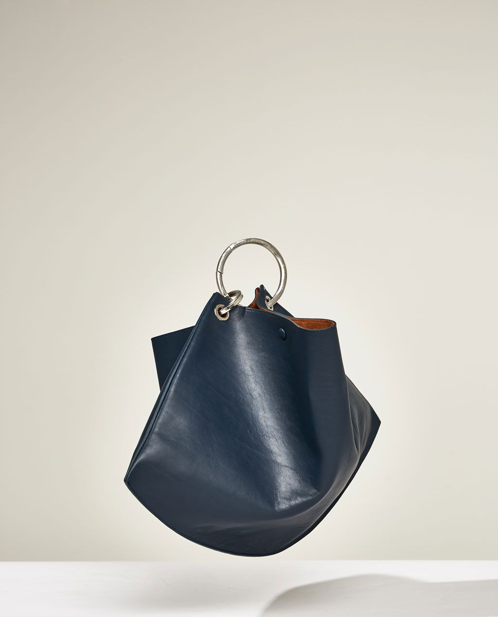 b6bd6cf876 STUDIO LEATHER BUCKET BAG WITH HOOPS | Bags for Women | Bags ...