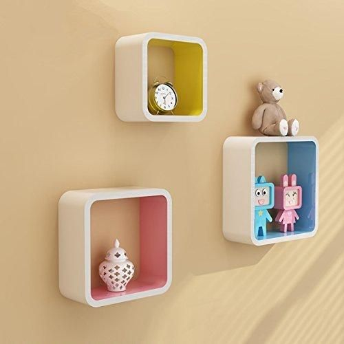 ZJchao Decorative Furniture Square Cube Wall Shelves Floating ...