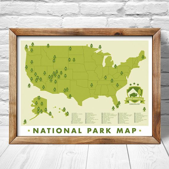 national park map print outdoors wall art hiking art print explorer map print