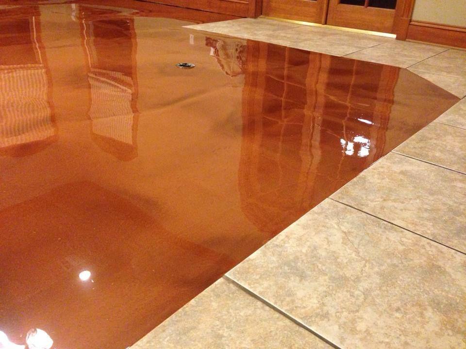 Cti Of Acadiana Concrete Resurfacing Metallic Epoxy Floor Flooring Concrete Floor Coatings