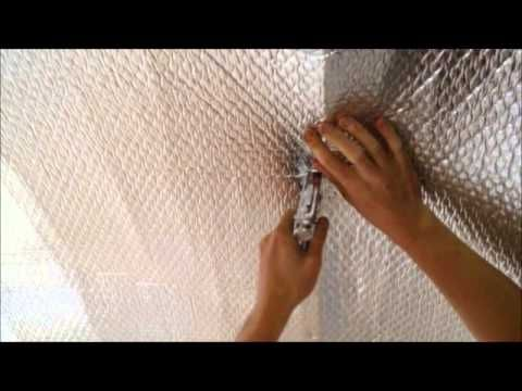 Shed Conservatory Insulation-reflective foil not bubble wrap Log Cabin