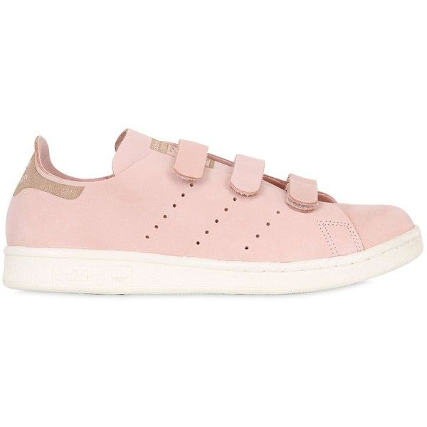 312be4d8e64 Adidas Originals Women Stan Smith Strap Suede Sneakers ( 176) ❤ liked on  Polyvore featuring
